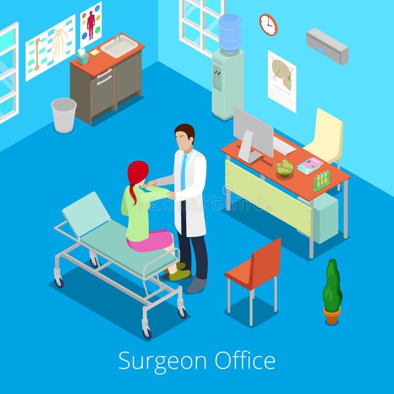 有Examinating Patient医生的等量外科医生办公室 皇族释放例证