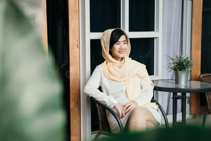 有hijab的回教妇女 库存照片