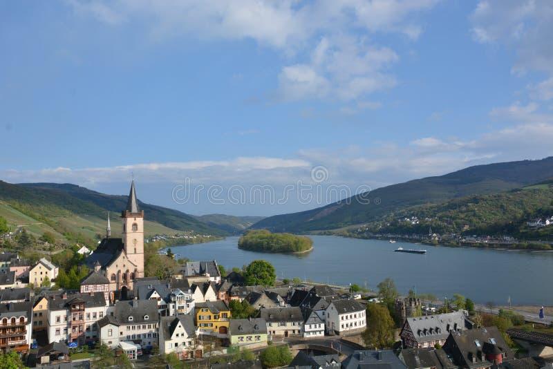 有Lorch的河莱茵河 库存照片