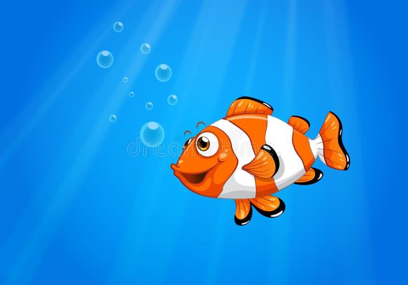 有nemo鱼的海 库存例证