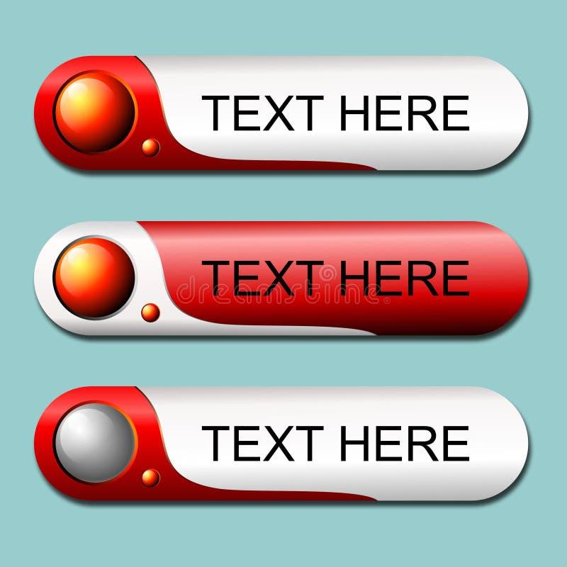有usb样式的白色和红色按钮 免版税库存照片