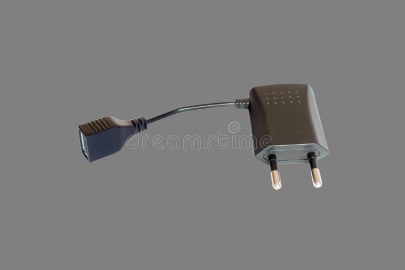 有USB的AC适配器 图库摄影