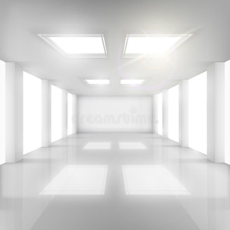 有Windows的绝尘室在墙壁和天花板 库存例证