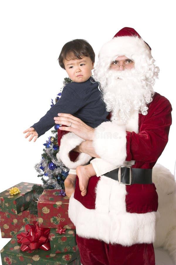 朋友圣诞老人 免版税图库摄影