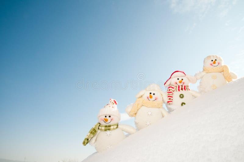 朋友愉快的冬天 库存图片