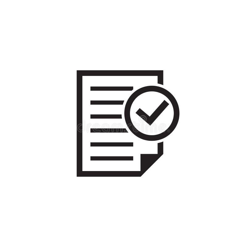 服从在平的样式的文件象 在白色被隔绝的背景的批准的处理例证 检查号事务 皇族释放例证