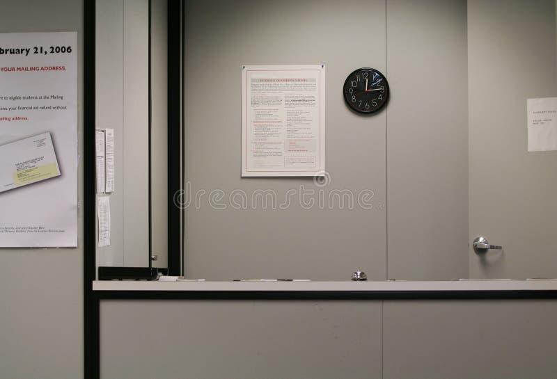 服务台没人接收 免版税库存照片