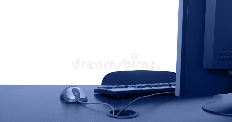 服务台空的办公室 免版税图库摄影