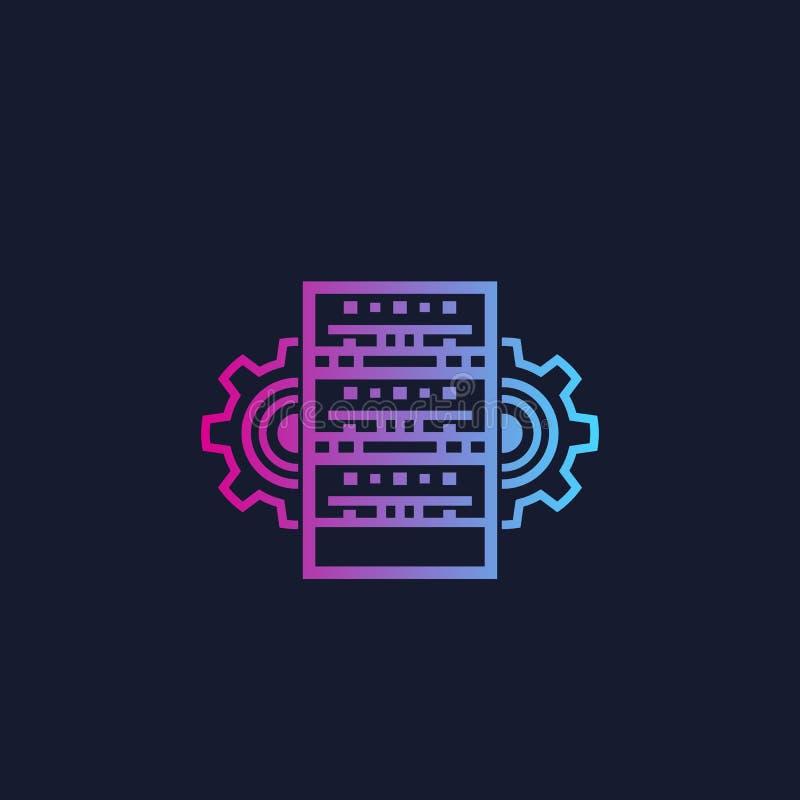 服务器、主持的管理和网络 库存例证
