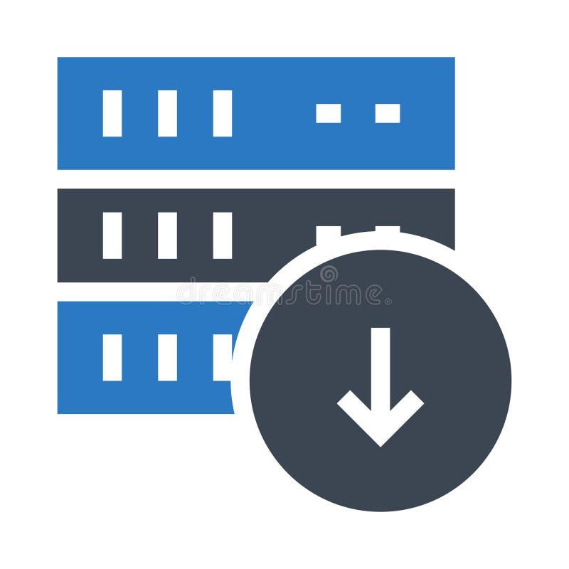 服务器下载纵的沟纹双重颜色象 库存例证