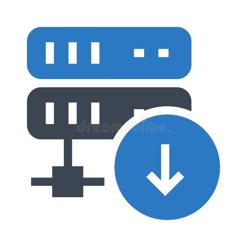 服务器下载纵的沟纹双重颜色象 向量例证
