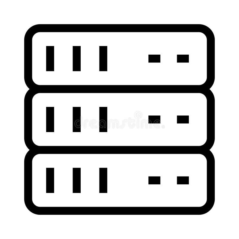 服务器传染媒介纵的沟纹象 向量例证