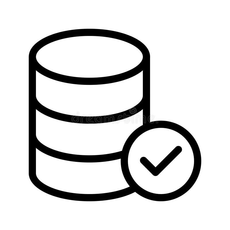 服务器传染媒介线象 库存例证