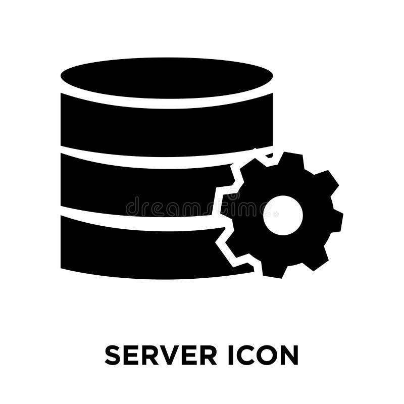 服务器在白色背景隔绝的象传染媒介,商标概念  库存例证