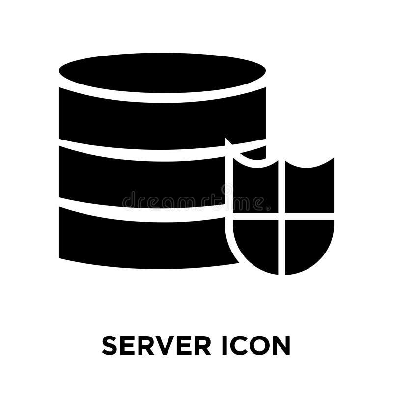 服务器在白色背景隔绝的象传染媒介,商标概念  向量例证