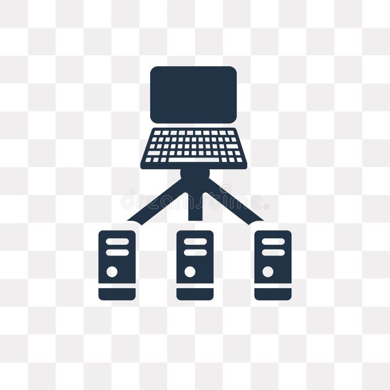 服务器在透明背景隔绝的传染媒介象,服务器t 库存例证