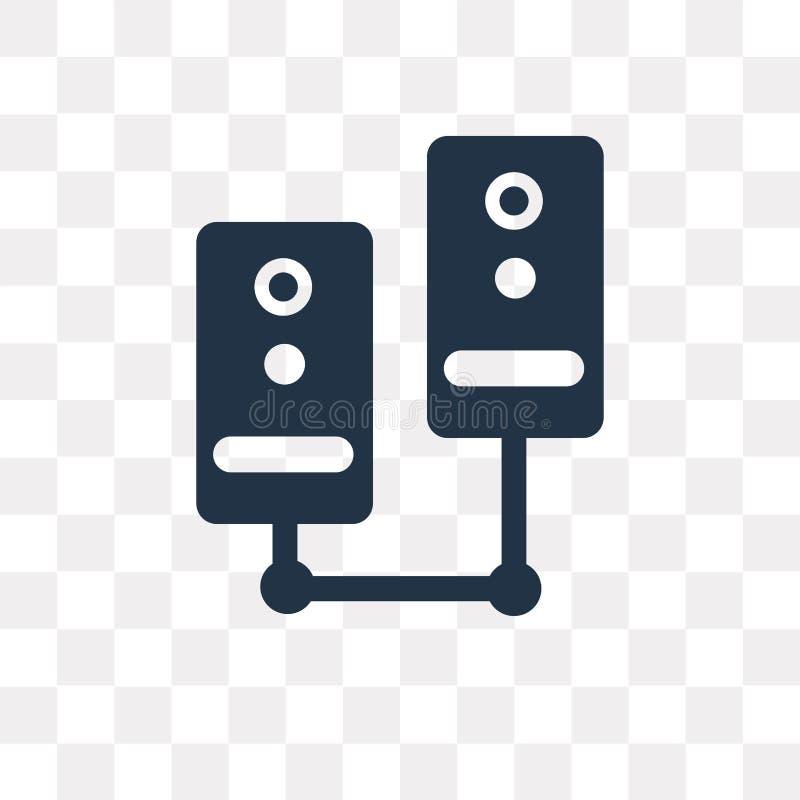 服务器在透明背景隔绝的传染媒介象,服务器t 皇族释放例证