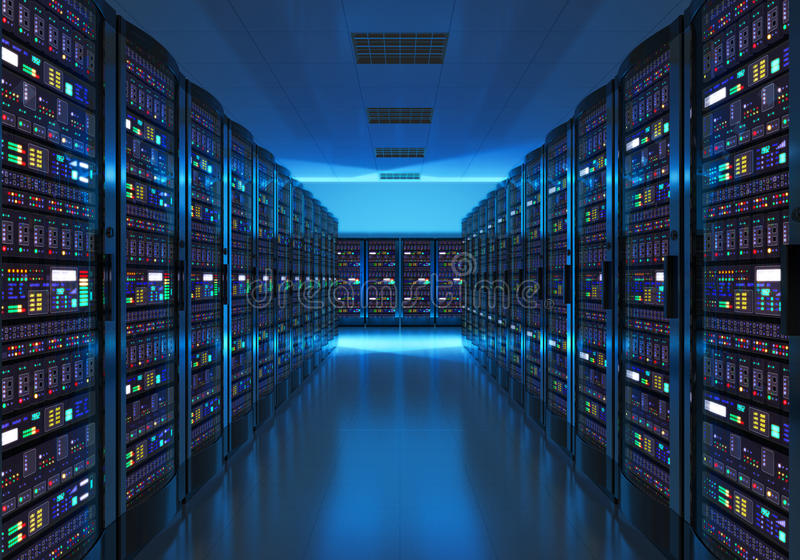 服务器在datacenter的室内部