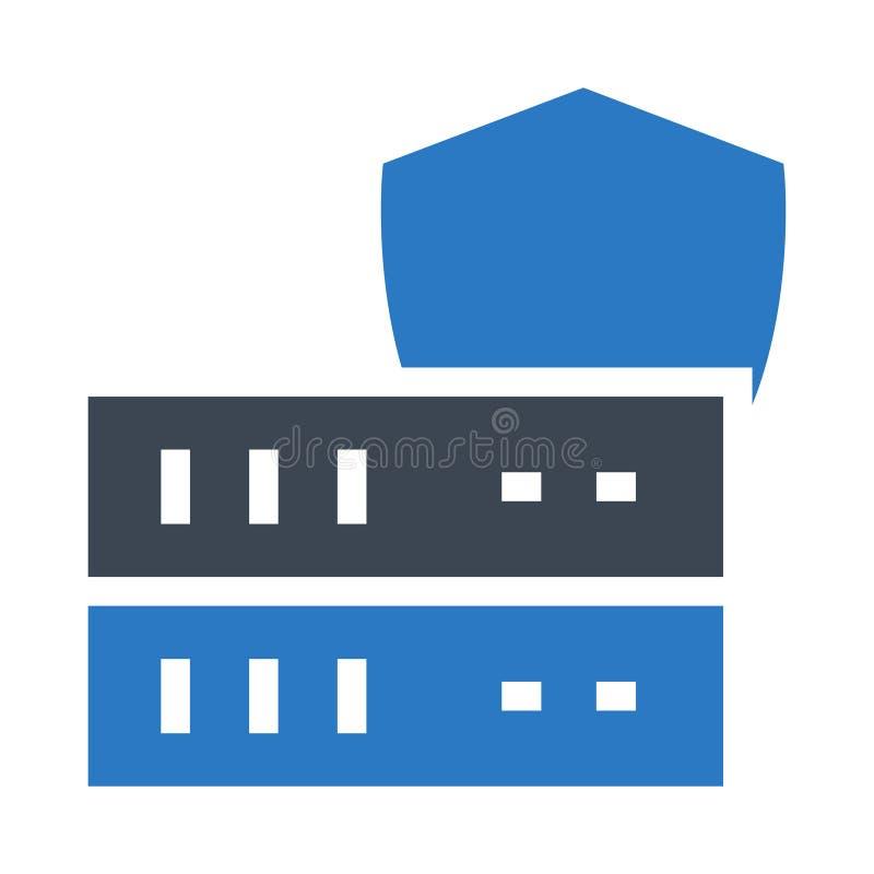 服务器安全纵的沟纹双重颜色象 库存例证