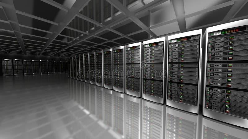 服务器室现代内部 库存例证