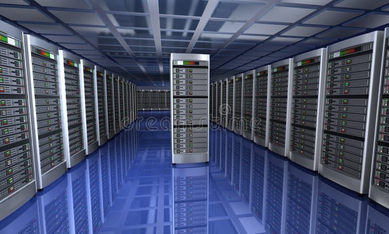 服务器室现代内部 向量例证
