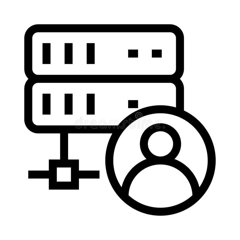 服务器帐户传染媒介纵的沟纹象 库存例证