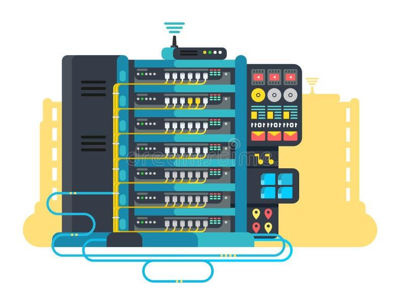 服务器平数据中心的设计 皇族释放例证