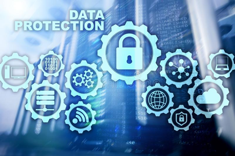 服务器数据保护概念 信息安全从病毒网络数字式互联网技术的 皇族释放例证