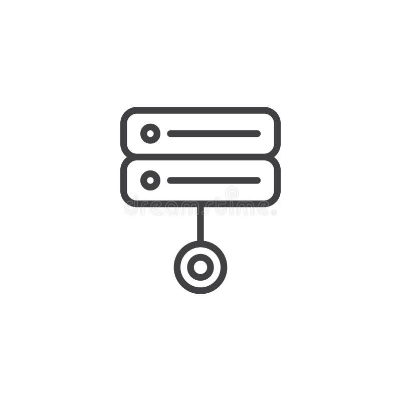 服务器数据折磨线象 向量例证
