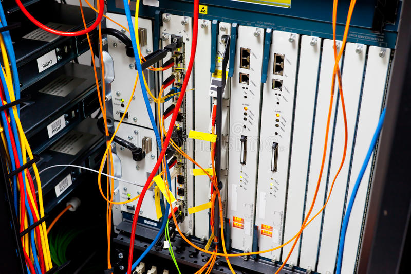 服务器机架路由器 免版税库存照片