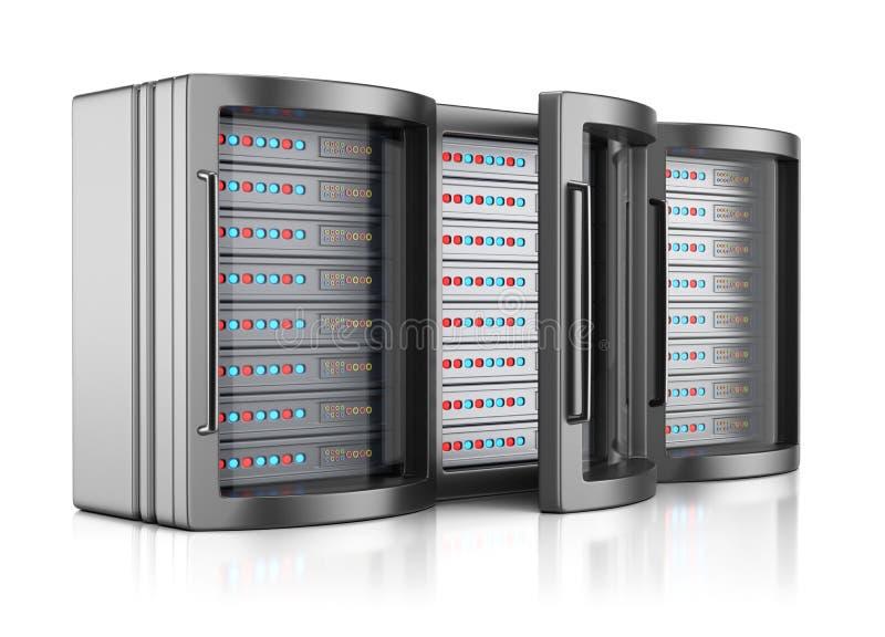 服务器机架 向量例证