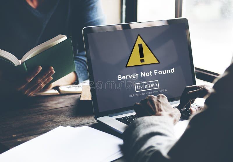 服务器没被找到的计算机数据库网络概念 免版税库存照片