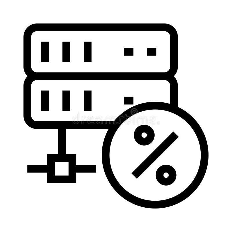 服务器百分比传染媒介纵的沟纹象 库存例证