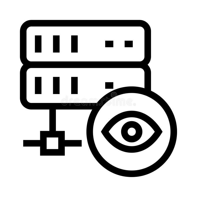 服务器视图传染媒介纵的沟纹象 向量例证