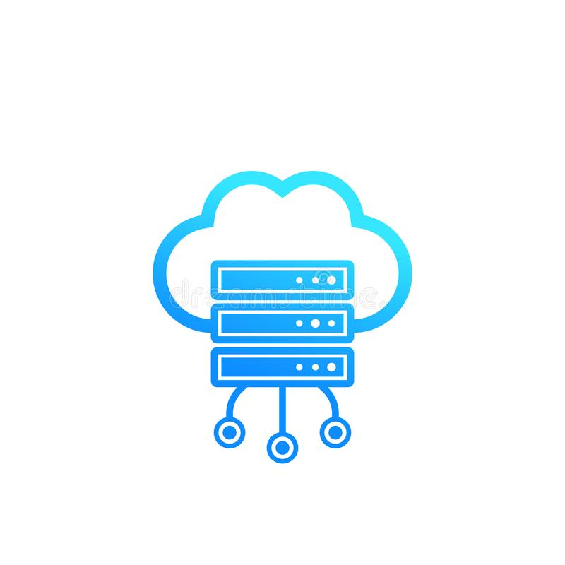 服务器,主持,云彩存贮象 库存例证