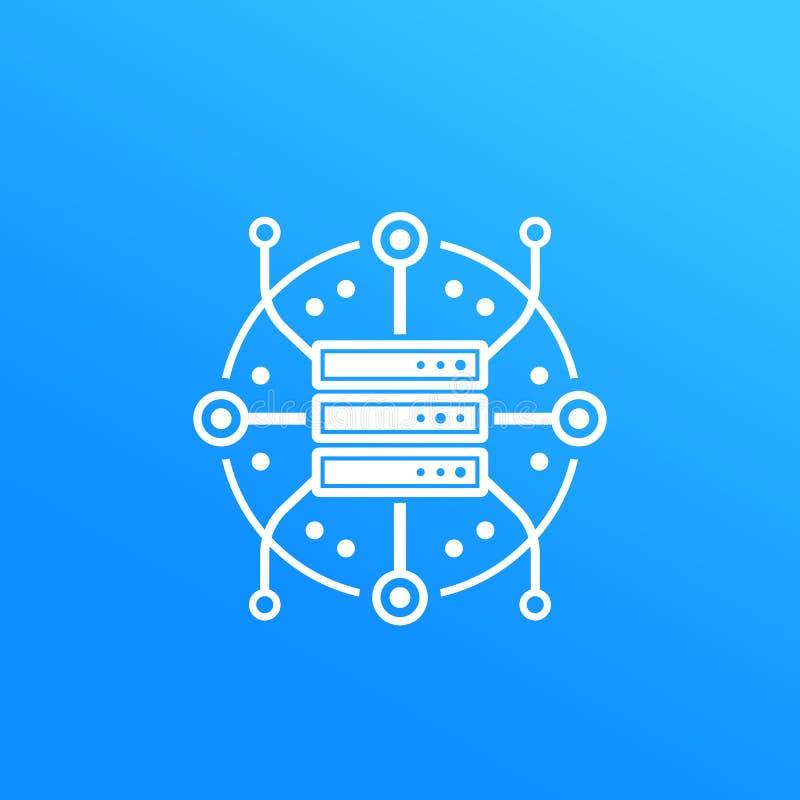 服务器,主持,数据存储象 库存例证