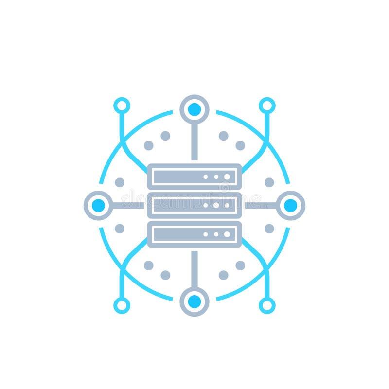 服务器,主持,网络传染媒介象 向量例证