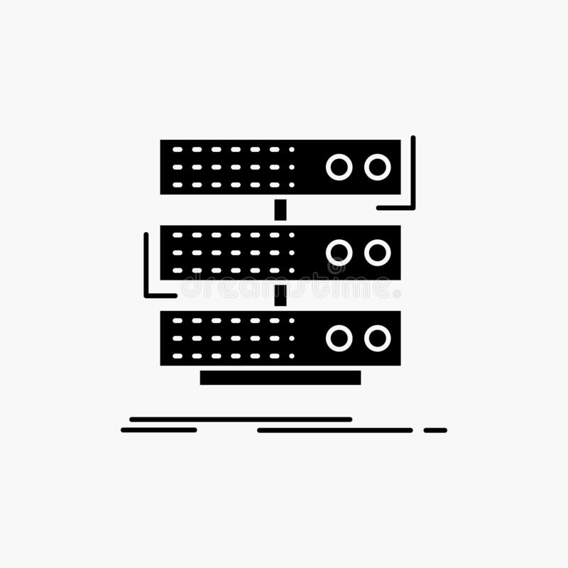 服务器,存贮,机架,数据库,数据纵的沟纹象 r 向量例证