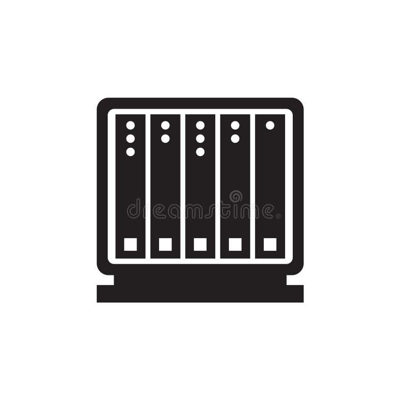 服务器,数据中心象 皇族释放例证