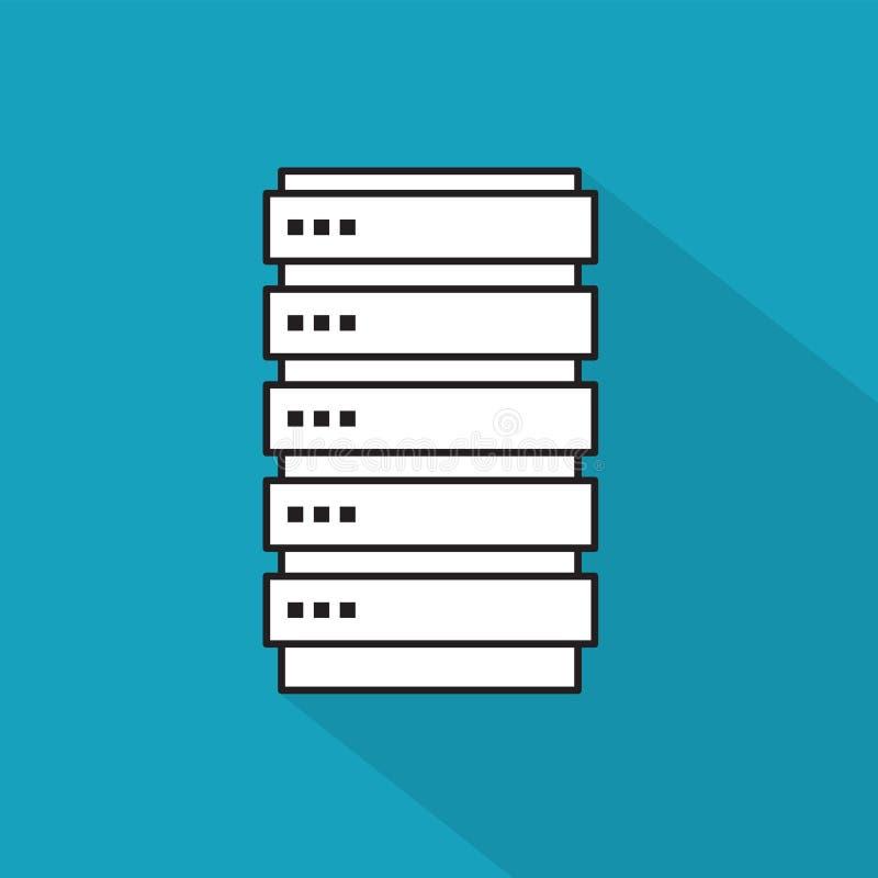 服务器,数据中心象 向量例证
