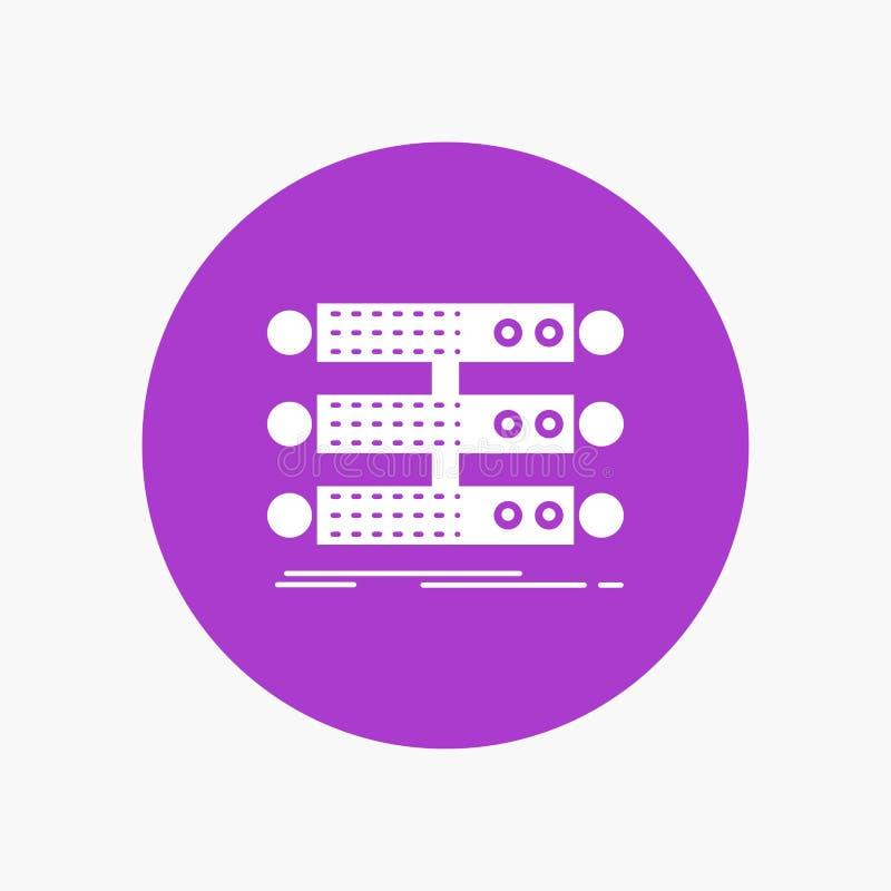 服务器,结构,机架,数据库,在圈子的数据白色纵的沟纹象 r 向量例证