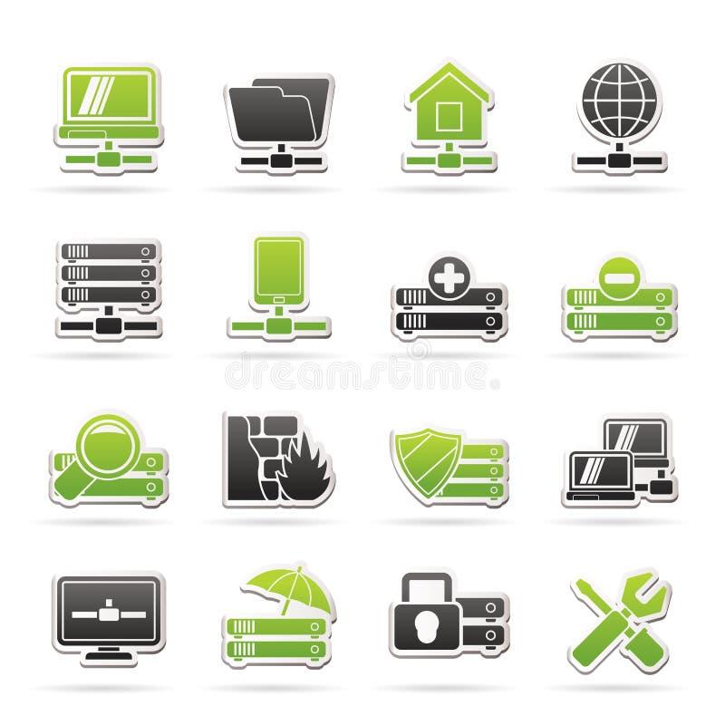 服务器,主持和互联网象 向量例证