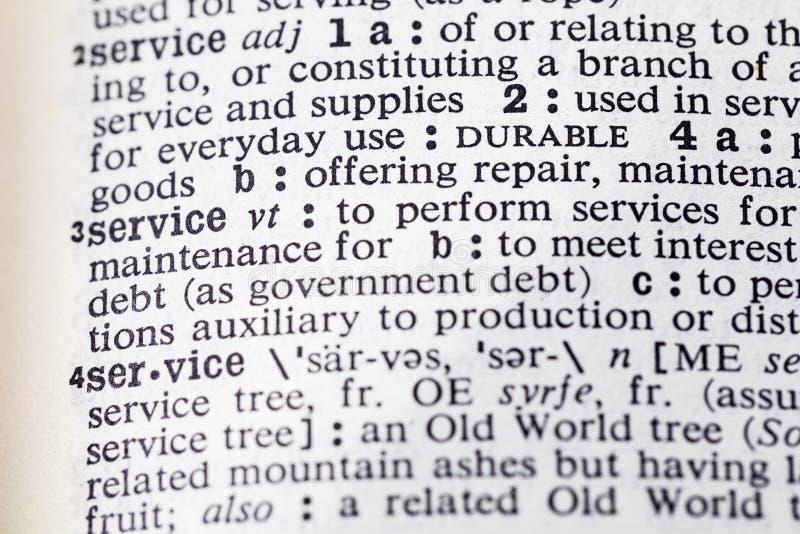 服务执行帮助军事修理字典 库存照片