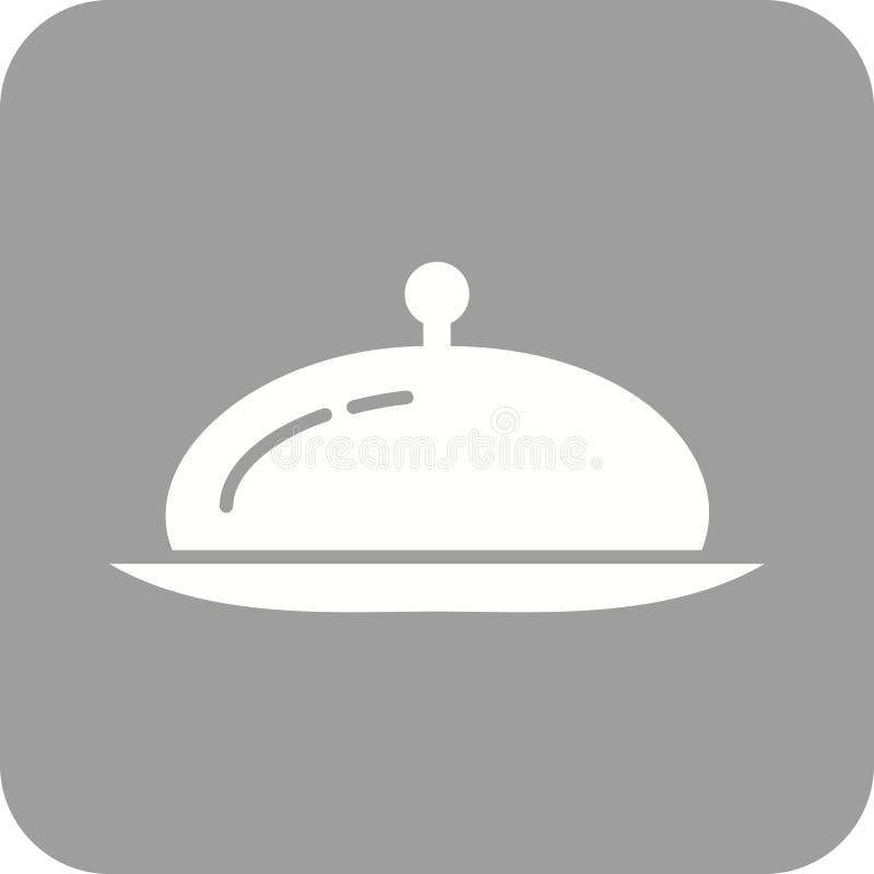 服务晚餐 向量例证