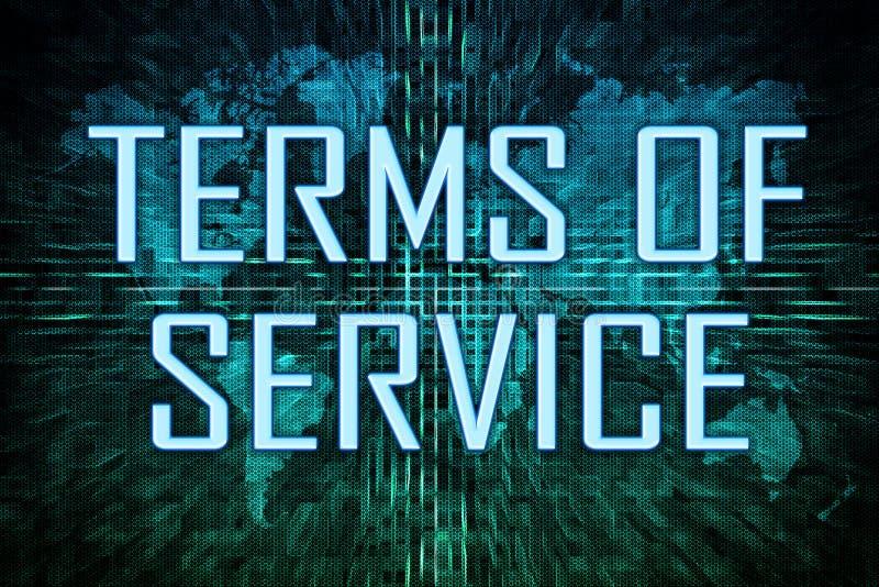 服务条款 向量例证