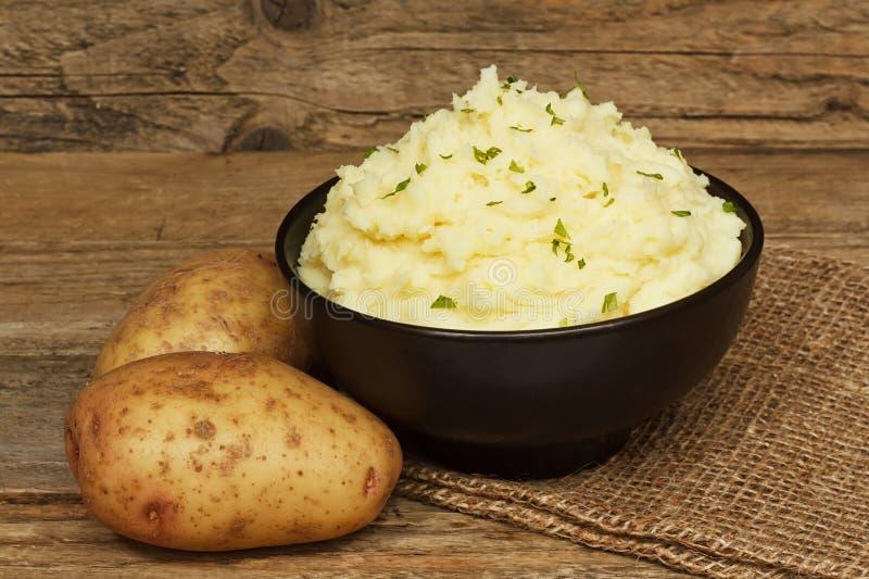 服务的土豆泥 库存照片