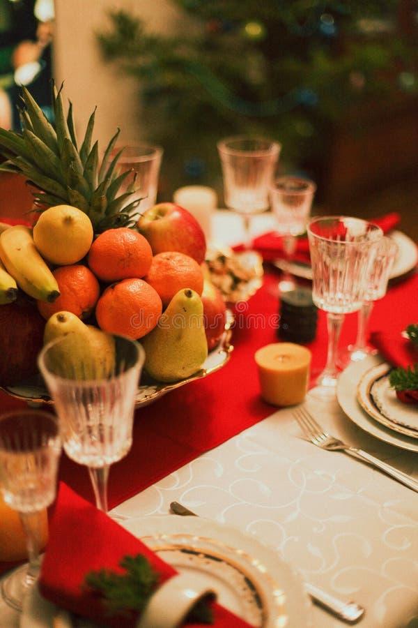 服务的桌新年 库存图片