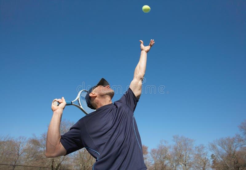 服务网球 免版税库存照片