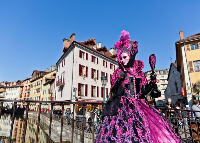 服装威尼斯式妇女 免版税库存图片