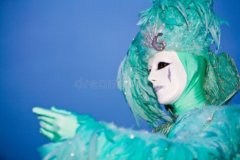 服装威尼斯式黄昏的绿松石 免版税库存照片